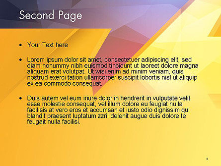 Two Arrows Pointing at Each Other Abstract PowerPoint Template Slide 2