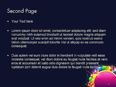 Happy Birthday Card PowerPoint Template Slide 2