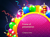 Holiday/Special Occasion: Happy Birthday Card PowerPoint Template #14305