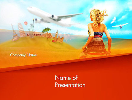 Hello Summer PowerPoint Template, 14306, Careers/Industry — PoweredTemplate.com