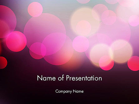 Festive Bokeh PowerPoint Template, 14307, Abstract/Textures — PoweredTemplate.com