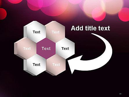 Festive Bokeh PowerPoint Template Slide 11