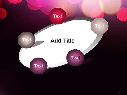 Festive Bokeh PowerPoint Template Slide 14