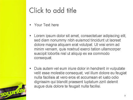 Arrow Solution PowerPoint Template, Slide 3, 14308, Business Concepts — PoweredTemplate.com