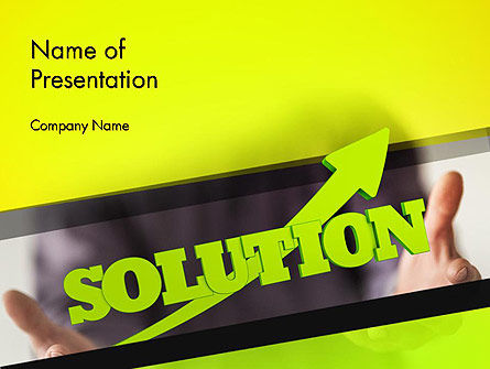 Business Concepts: Arrow Solution PowerPoint Template #14308