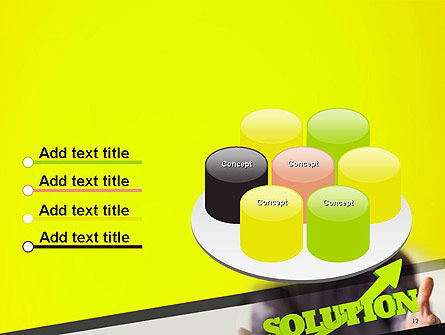 Arrow Solution PowerPoint Template Slide 12