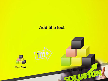 Arrow Solution PowerPoint Template Slide 13