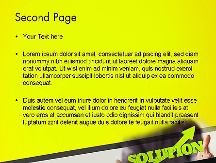 Arrow Solution PowerPoint Template Slide 2