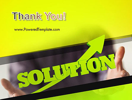 Arrow Solution PowerPoint Template Slide 20