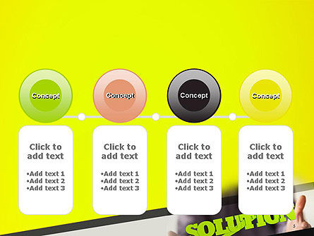 Arrow Solution PowerPoint Template Slide 5