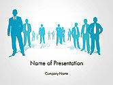 People: Silhouettes of Men in Suits and Ties PowerPoint Template #14310
