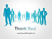 Silhouettes of Men in Suits and Ties PowerPoint Template#20