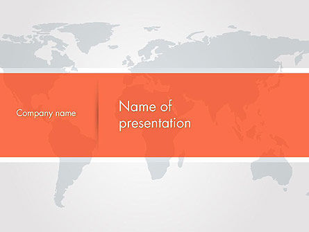 Global: Gray World Map PowerPoint Template #14311