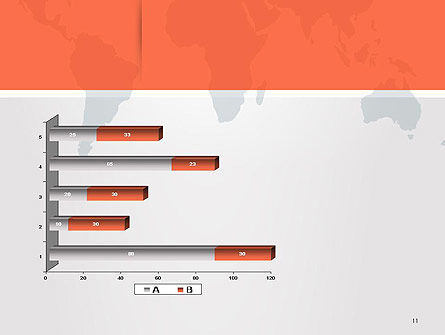 Gray World Map PowerPoint Template Slide 11