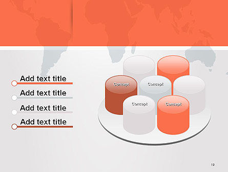 Gray World Map PowerPoint Template Slide 12