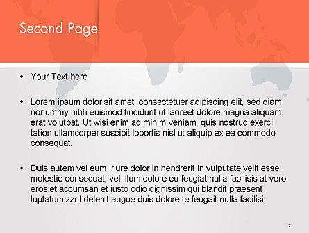 Gray World Map PowerPoint Template Slide 2