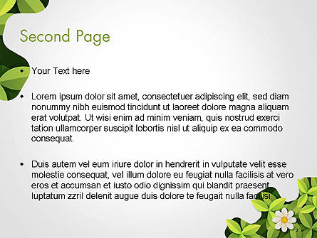Green Gear Shape with Flower PowerPoint Template Slide 2