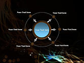 Glowing Burst of Energy Abstract PowerPoint Template#7
