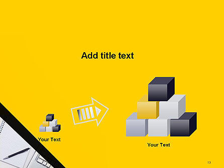 Keyboard and Notepad with Pen PowerPoint Template Slide 13