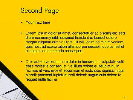 Keyboard and Notepad with Pen PowerPoint Template Slide 2