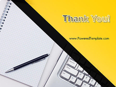 Keyboard and Notepad with Pen PowerPoint Template Slide 20