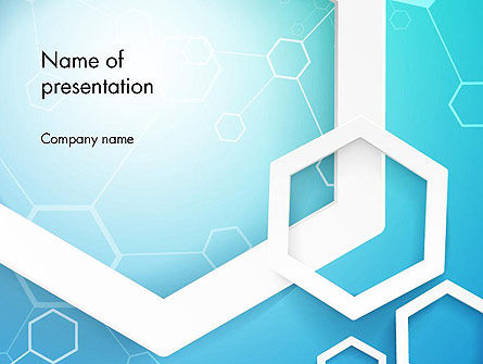 Abstract Hexagon Network PowerPoint Template, 14315, Abstract/Textures — PoweredTemplate.com