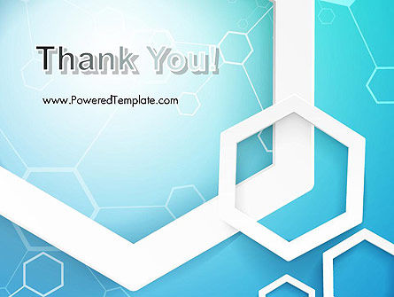 Abstract Hexagon Network PowerPoint Template Slide 20