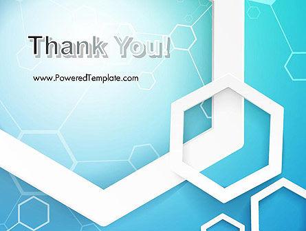 Abstract Hexagon Network PowerPoint Template Slide 20