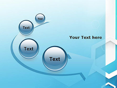 Abstract Hexagon Network PowerPoint Template Slide 6