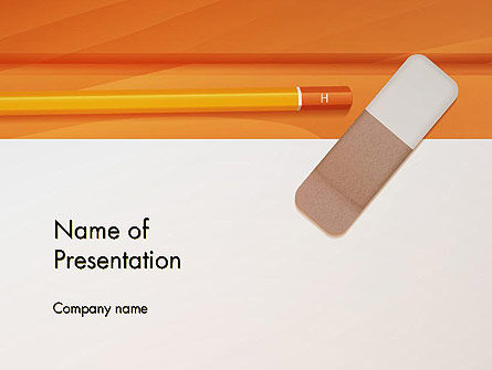 Education & Training: Eraser and Pencil PowerPoint Template #14316