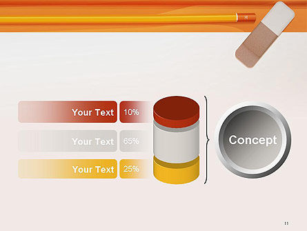 Eraser and Pencil PowerPoint Template Slide 11