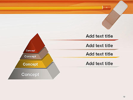 Eraser and Pencil PowerPoint Template Slide 12