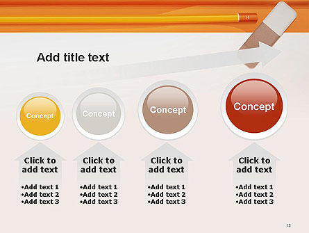 Eraser and Pencil PowerPoint Template Slide 13