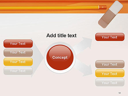 Eraser and Pencil PowerPoint Template Slide 14