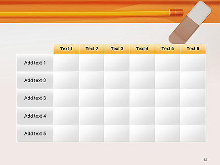 Eraser and Pencil PowerPoint Template Slide 15