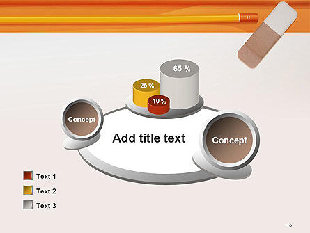 Eraser and Pencil PowerPoint Template Slide 16