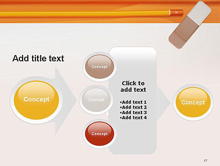 Eraser and Pencil PowerPoint Template Slide 17