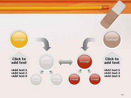 Eraser and Pencil PowerPoint Template Slide 19