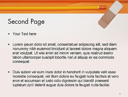 Eraser and Pencil PowerPoint Template Slide 2