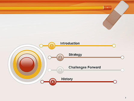 Eraser and Pencil PowerPoint Template Slide 3