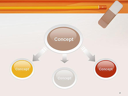 Eraser and Pencil PowerPoint Template Slide 4