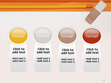 Eraser and Pencil PowerPoint Template Slide 5