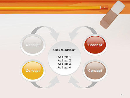 Eraser and Pencil PowerPoint Template Slide 6