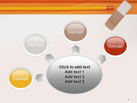 Eraser and Pencil PowerPoint Template Slide 7