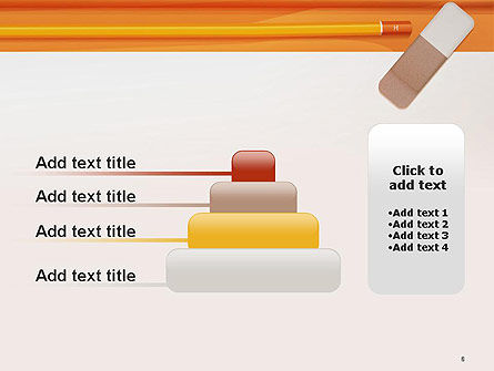 Eraser and Pencil PowerPoint Template Slide 8
