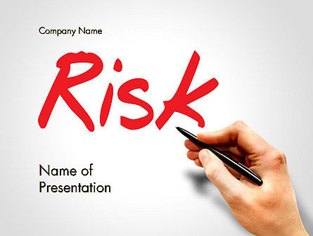 Hand Writing Risk PowerPoint Template