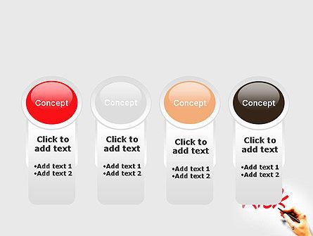 Hand Writing Risk PowerPoint Template Slide 5