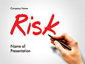 Business Concepts: Hand Writing Risk PowerPoint Template #14317