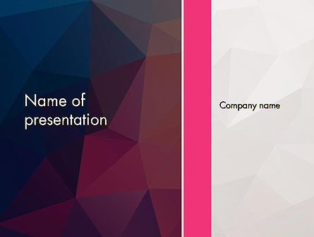Abstract/Textures: Polygonal Surface Abstract PowerPoint Template #14318