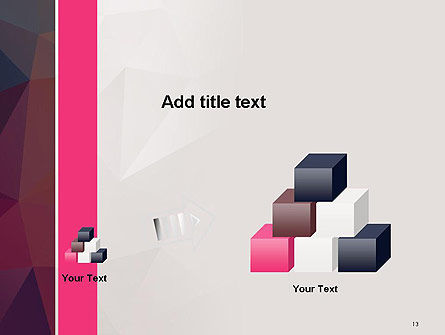 Polygonal Surface Abstract PowerPoint Template Slide 13